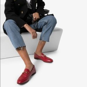 RED GUCCI BRIXTON LOAFERS